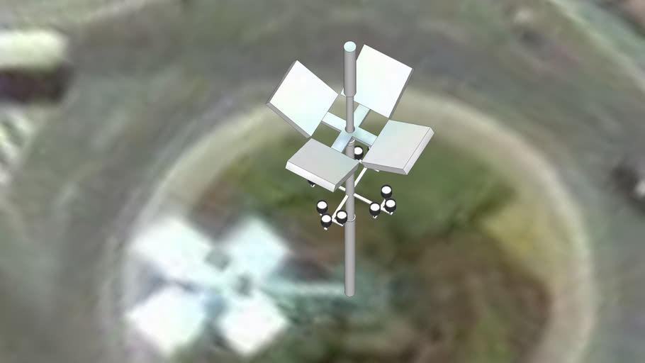 Lampione rotatoria della ferrera a Conegliano
