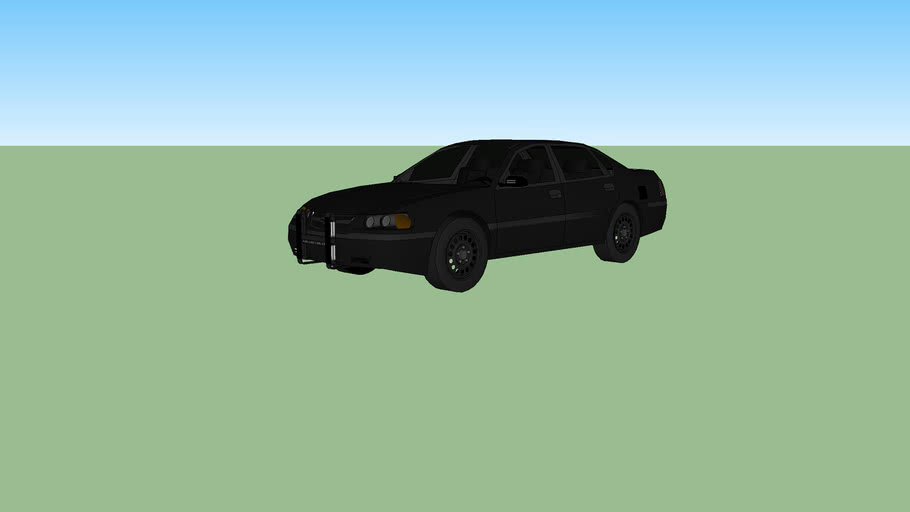 Blacked out Police Impalla