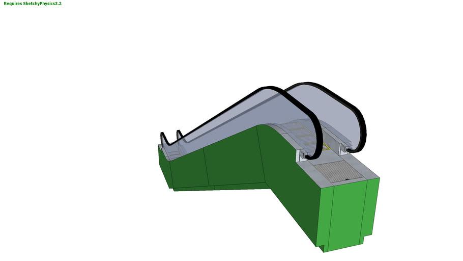 Green Steel Escalator