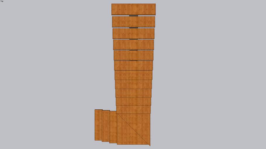 Escada - Viga central