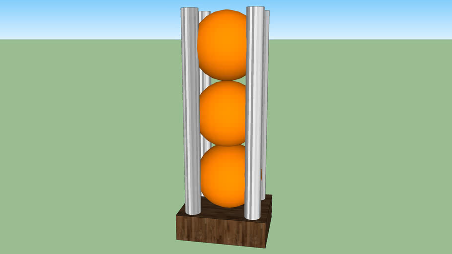oranges in holder