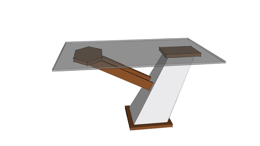 Cantilever Arm Coffee Table