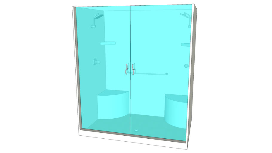 Built in 4ftx6ft Shower - Detailed