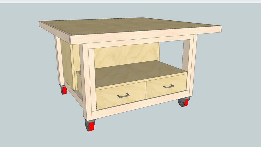 Mobile Woodworking Assembly Table