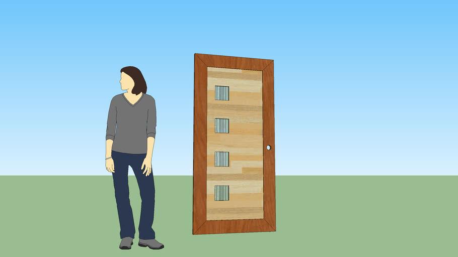 Puerta Frontal para casa Tipo Ibis
