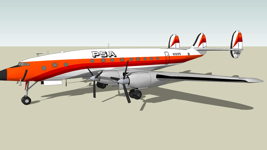 Pacific Southwest Airlines (PSA) Lockheed L-049 Constellation [FAKE]