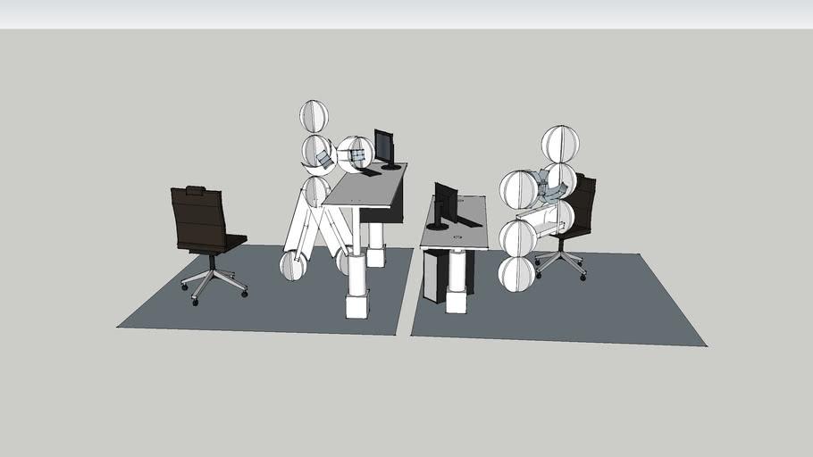 adjustable height desk - 2 legs