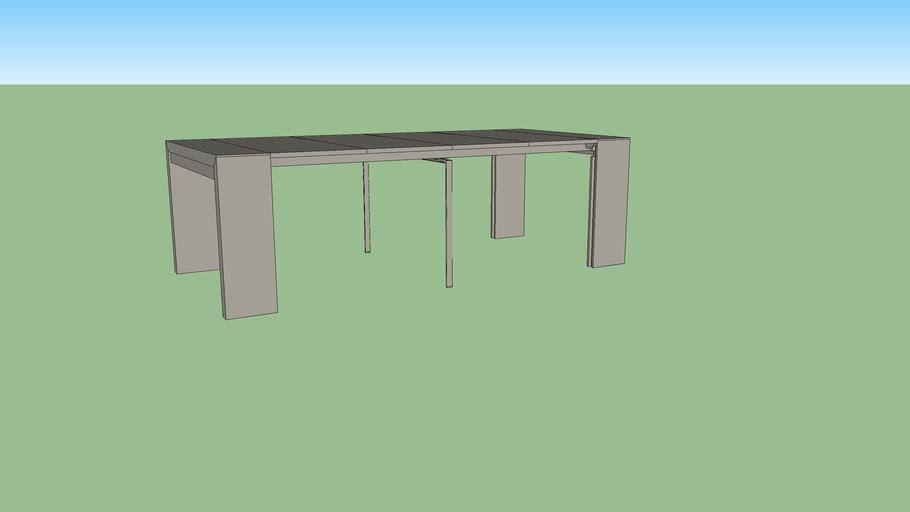 Table Console Extensible Doppio Ligne Roset 3d Warehouse