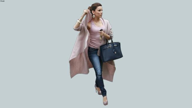 Pink+Sweater+Coat+Woman