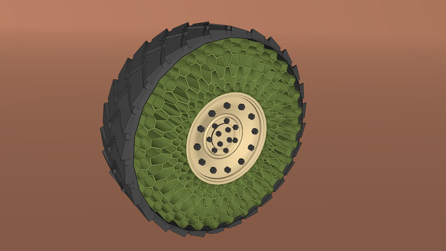 """HMMWV Tire Series - Generation 5 """"Concept"""" - Resilient Technologies Honeycomp Airless Design"""