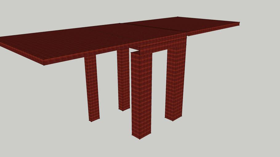 Cherry-wood foldingtable