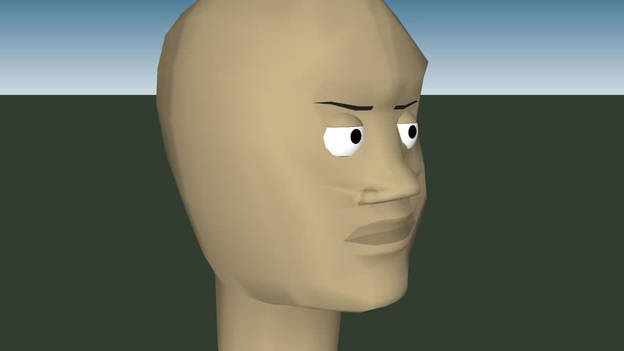 nice human head model