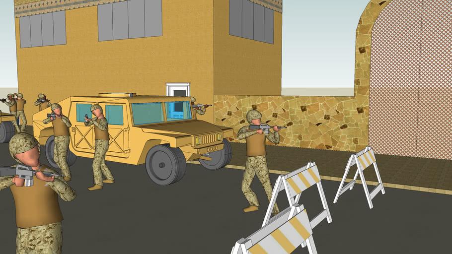 Modern US Marines in Iraq