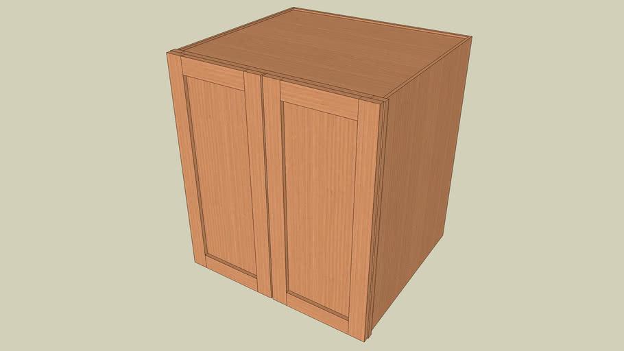 Wall_Cabinet_2Door_30Hx27Wx24D_shaker
