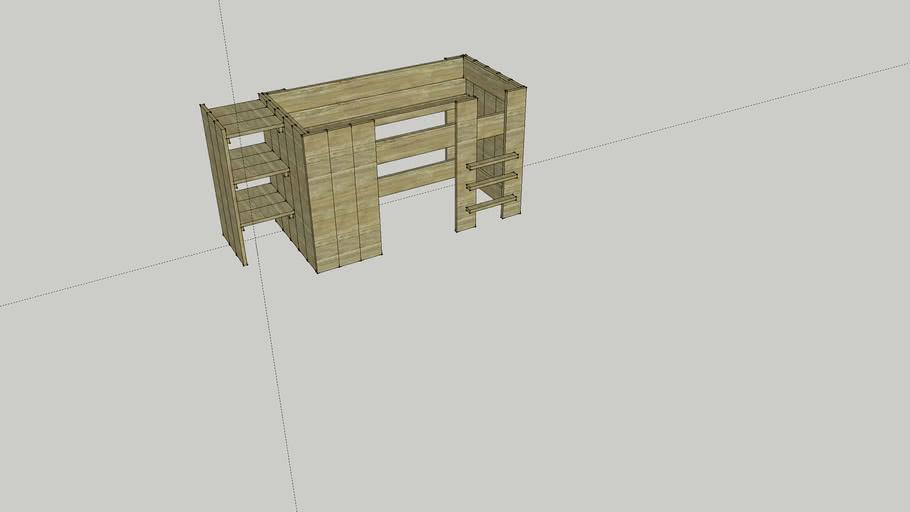 Halfhoogslaper steigerhout*
