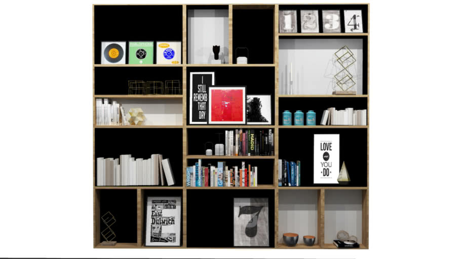 Shelving Unit with Props