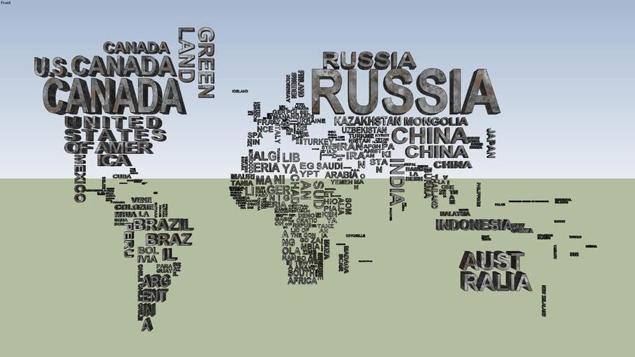 Mapa mundi en textos