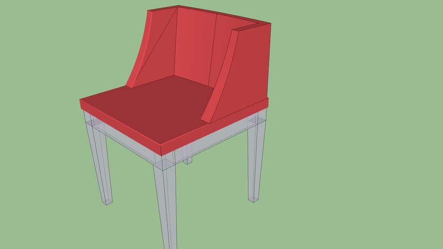 Cadeira em acrilico