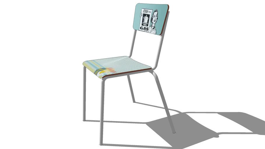chaise RECLAM bleue, maisons du monde, ref 131615 prix 49€