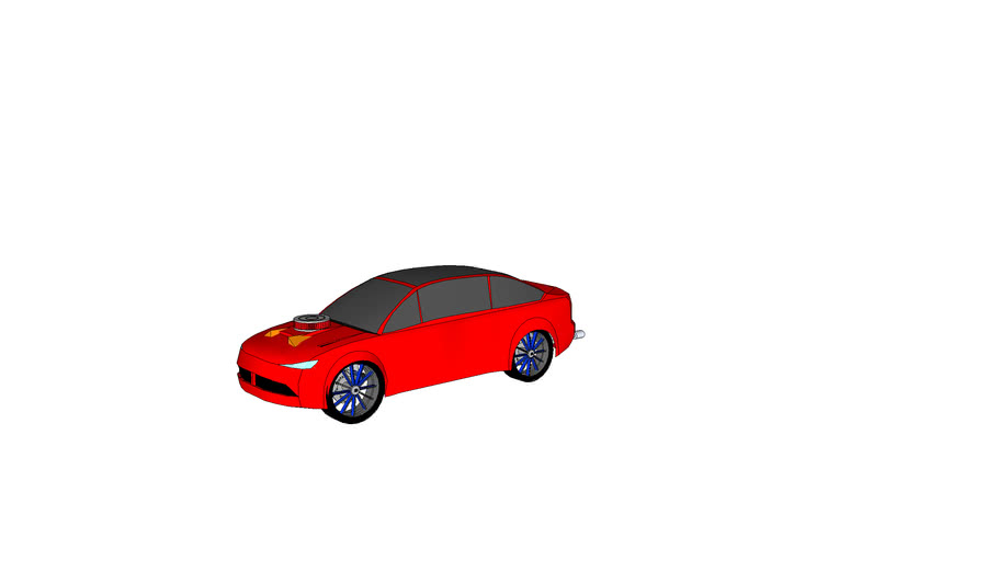 cool red car