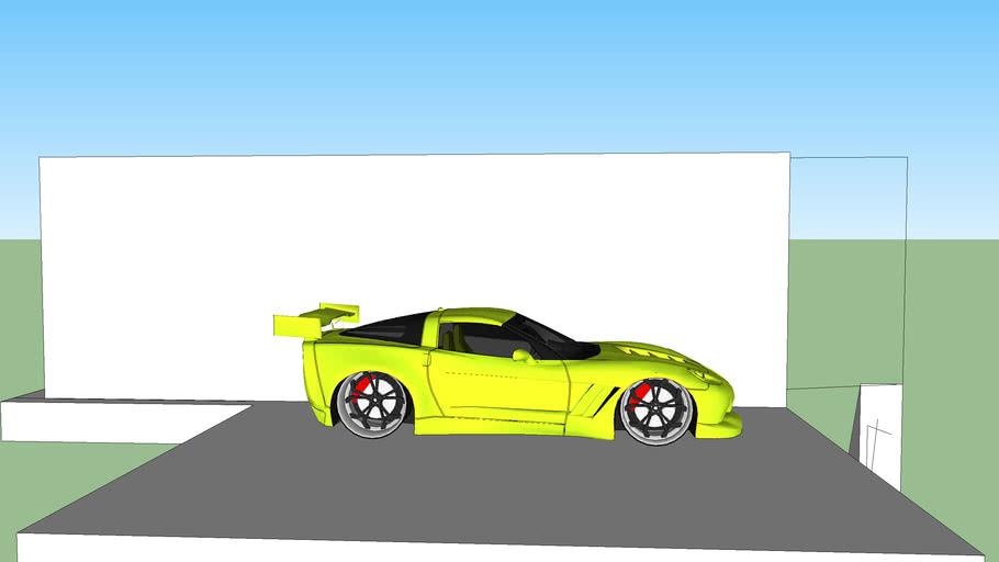 corvette in a car show