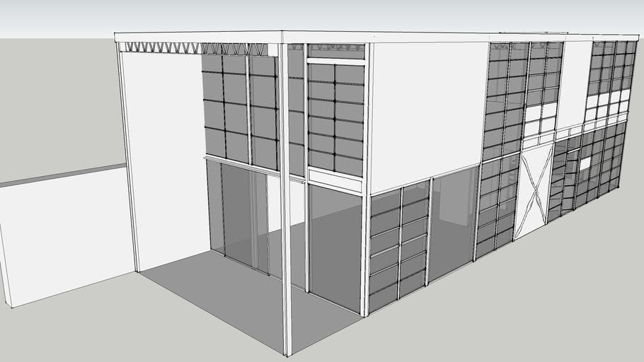 modo Architectural Modeling: The Charles Eames House in Sketchup