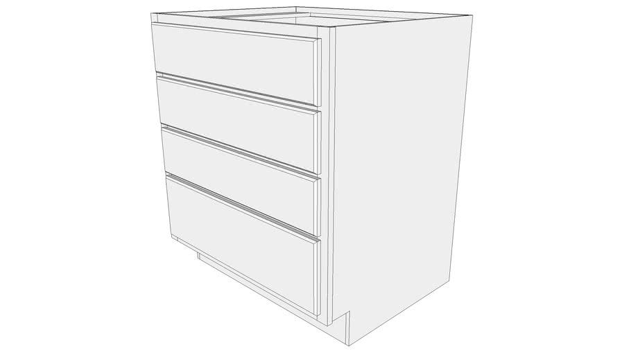 Briarwood Base Cabinet 4DB30 - Base Cabinet, Four Drawer