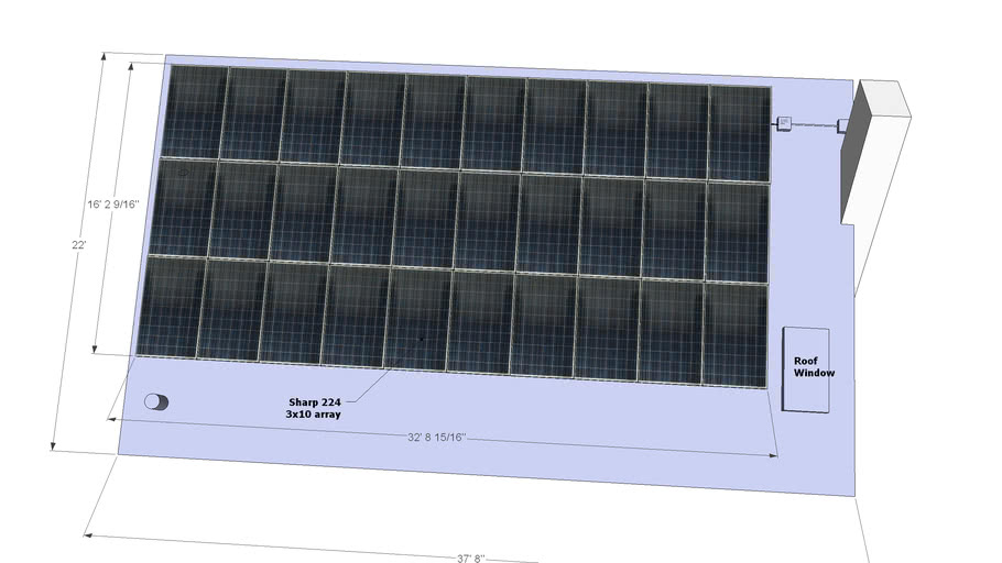 Sharp 224,  3x30 array