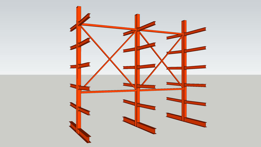 16 ft. double-sided Cantilever racking