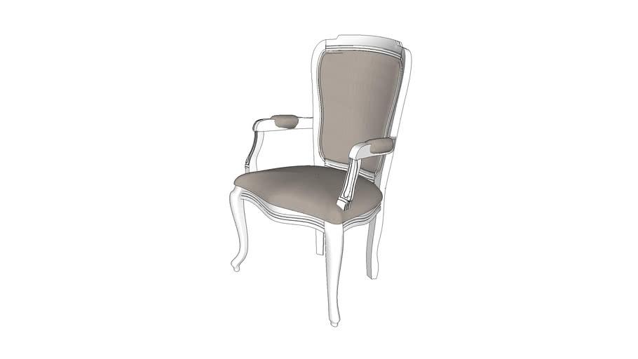 Cadeira Bourbon sem aplique com braço e tecido - Kleiner Schein