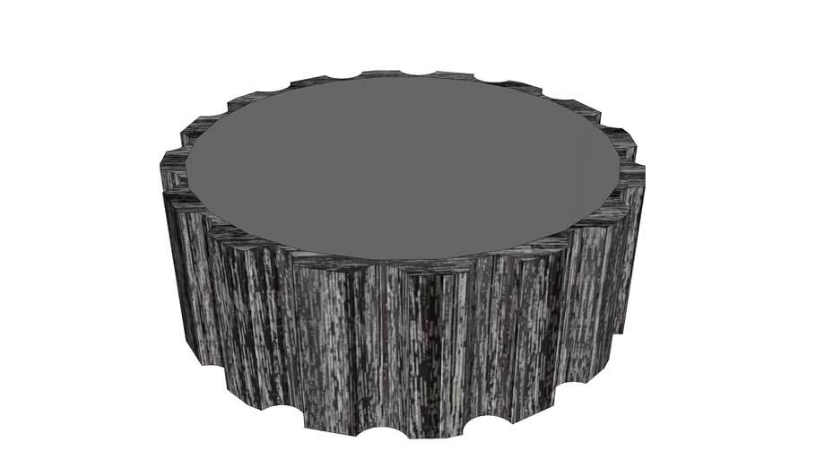 Global Views Reflective Column Coffee Table