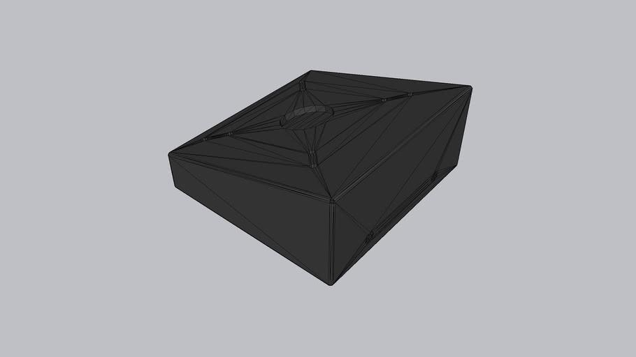 Fixed Tilted Vesa Wall / Surface Mount - 15° angle VidaMount by VidaBox