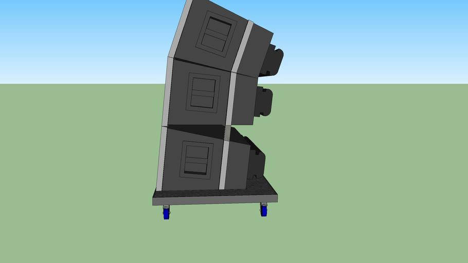 jbl with flightcase