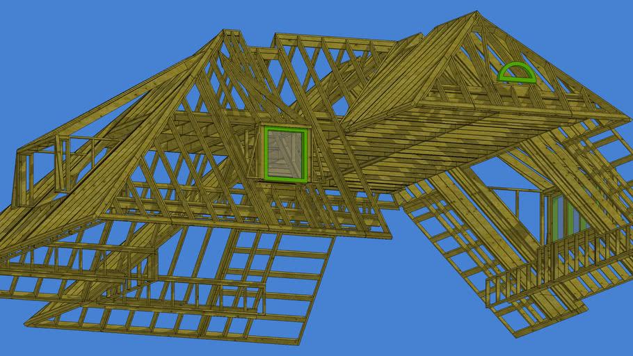 Prefab dakkonstruktie