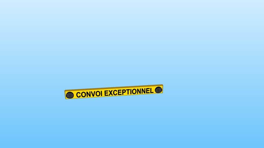 Plaque Convoi Exceptionnel