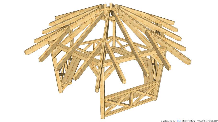 Prístrešok 6-uholník