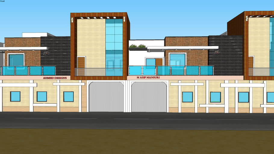 INDIAN DUPLEX HOUSE ELEVATION MODEL