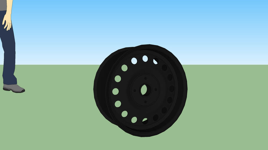 "Wheel 15""x7"" PCD100x4"