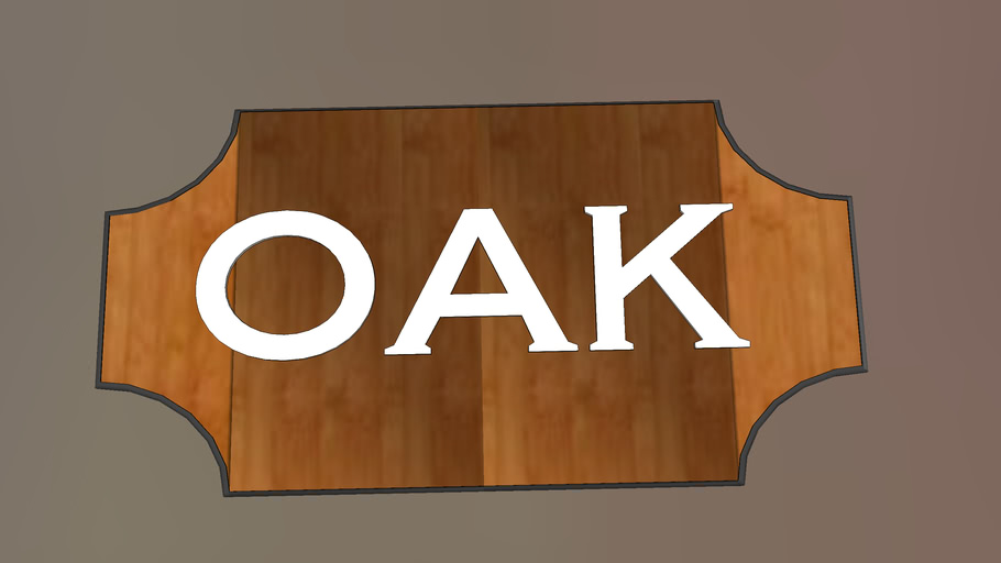 """The """"Oak"""" Cabin logo from Twin Pines Camp"""