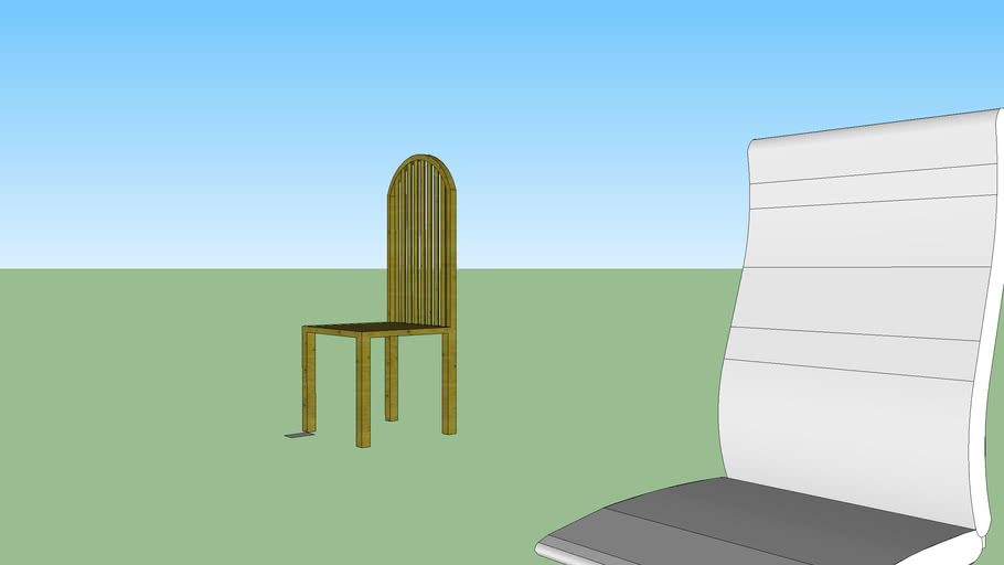 finnished chair with unfinished computer chair