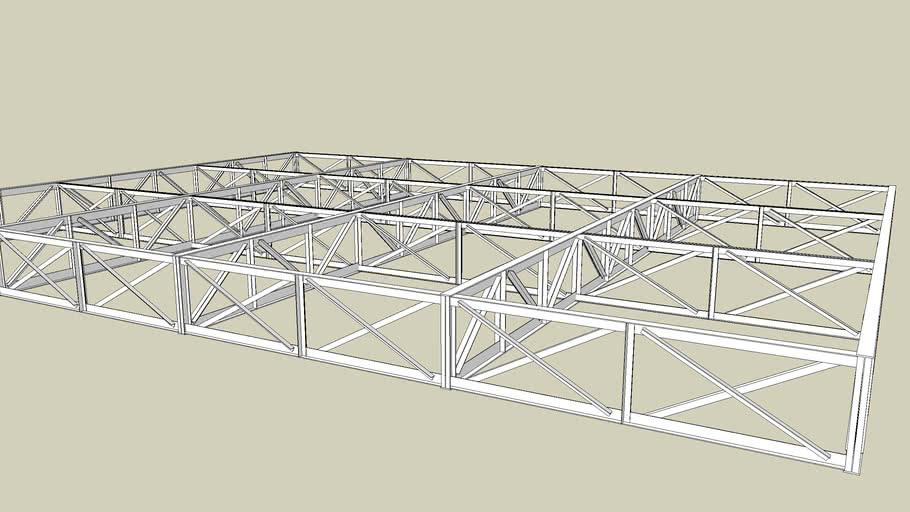 steel truss 18*24m