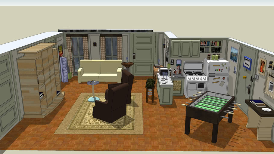 Joey S Apartment From Friends 3d Warehouse