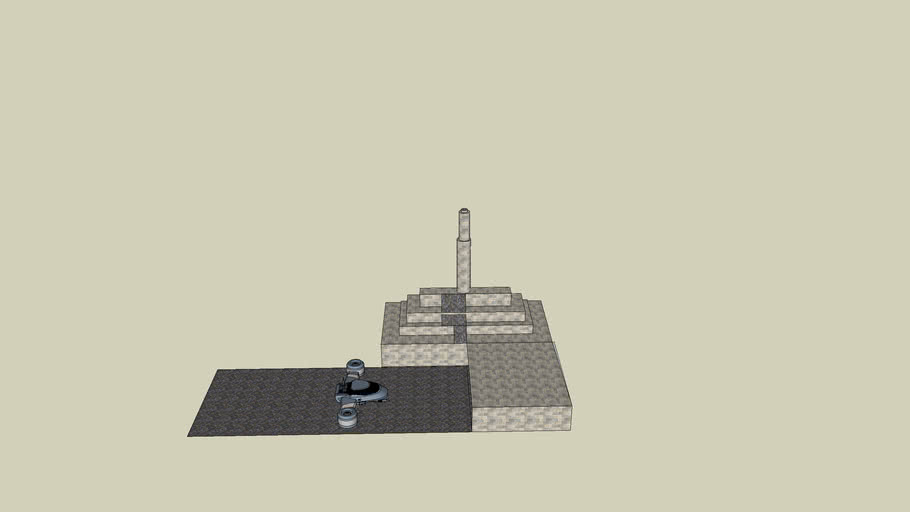 temple of doom with garage
