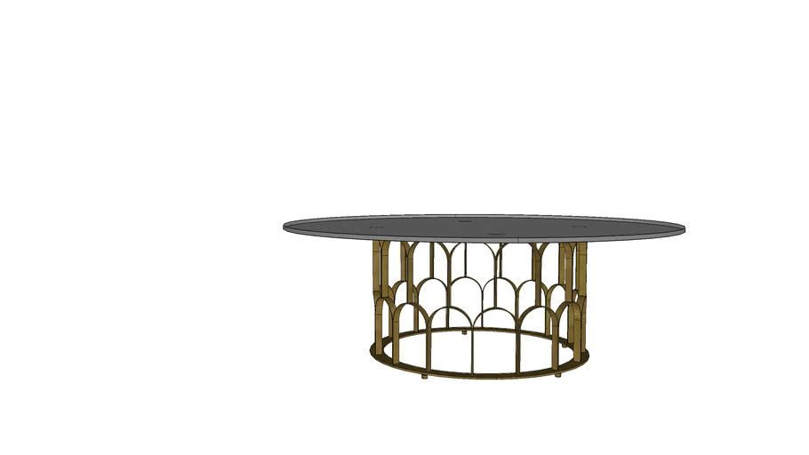 GATSBY COFFEE D115, 12mm Tempered Smoked Glass Top