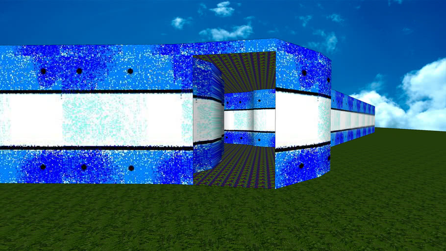Blue Mystery Maze - Sketchup 8.