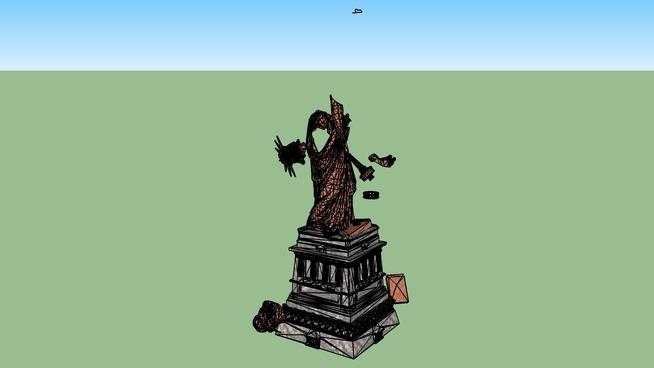 la estatua de la libertad dentro de  200 años