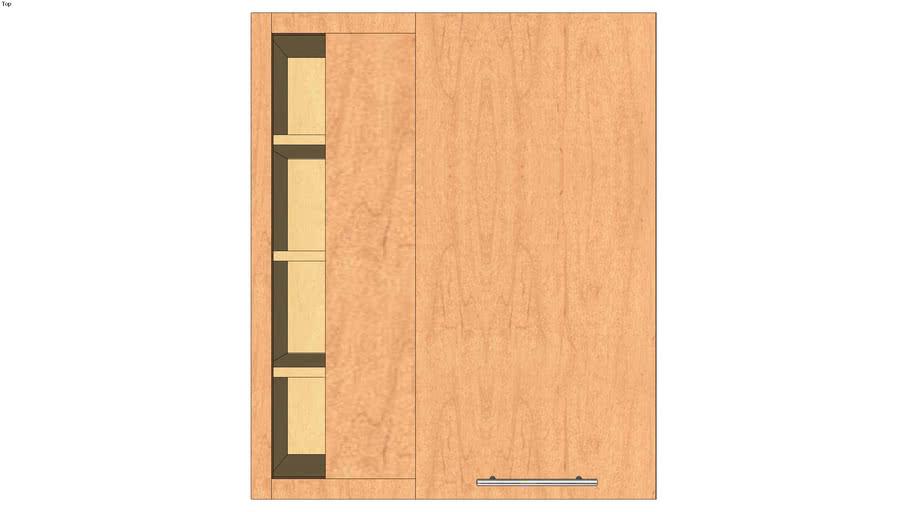 Wall Blind Corner Single Door 36H