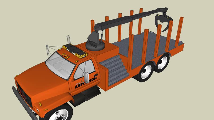 asplundh tree loader/ flat bed truck