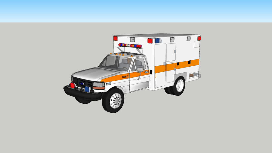 ambulance type l ford f350 mode3l 1993