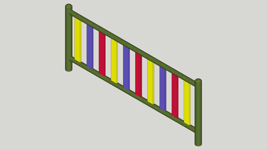 COLOURED METAL FENCE